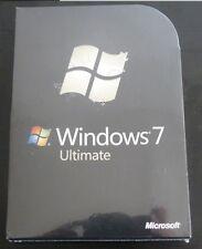 Microsoft Windows 7 Ultimate, SKU GLC-00182 Full Retail Box 32-bit 64-bit SEALED