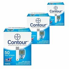 Test Strips 50 count Bayer Contour Blood Glucose Diabetic Test Strips 2/2018