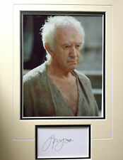 JONATHAN PRYCE - GREAT ACTOR - GAME OF THRONES - SIGNED COLOUR PHOTO DISPLAY