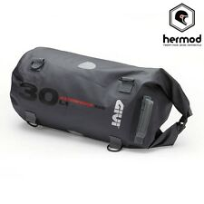 Givi WP402 Waterproof Motorcycle Dry Tail Bag Luggage 30 Litre - Grey
