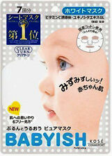 [KOSE COSMEPORT] Japan Clear Turn Babyish Whitening Brightening Face Mask 7pcs