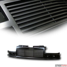 Black Horizontal Billet Front Grill Grille Abs For 98-04 Chevy S10 Blazer/Pickup