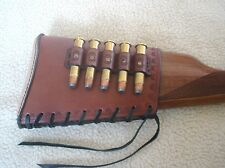 SASS leather MARLIN buttstock cover with 45-70 5 loop(20 days to get it done)
