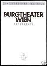 Theaterprogramm, Burgtheater Wien in der Berliner Volksbühne, Die Hermannsschlac
