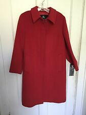 BURBERRY London Coat Jacket Wool Cashmere Angora Blend, Red UK 6, USA 4