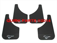 1996-2014 Ford Mustang Front & Rear Black Mud Flaps Splash Guards Set OEM NEW