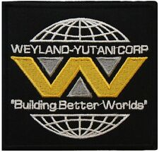 Aliens Weyland Yutani Corp Building Badge Embroidered Patch 9cm Sew/ Iron-on