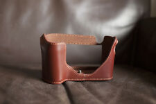 Genuine Real Leather Half Camera Case Bag Cover for Leica M9 M9P M-E M-M Brown