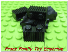 New LEGO Grille Bricks Lot of 6 1x2 Black Harry Potter Castle Ship Train Batman