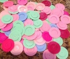 "BABY BOTTLE SEALING DISCS ""20"" CAPS FOR STANDARD SIZE BOTTLES MIXTURE OF COLORS"