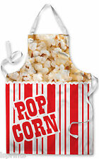 POPCORN BOX DESIGN APRON KITCHEN BBQ COOKING PAINTING GREAT GIFT IDEA