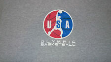Vintage 90s Official USA Olympic Brand Basketball T-Shirt Size Large Gold Medal