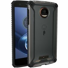 POETIC Polycarbonate and TPU Protective Bumper Case Cover for Moto Z Force Black