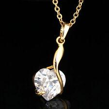 Halskette Herz Anhänger Collier Herzkette 18K Gold Schmuck Kette Love