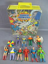 DC Super Powers Lot HAWKMAN AQUAMAN SUPERMAN JOKER BATMAN + Carrying case 1984