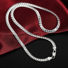 Men & Women Fashion 925 Sterling Silver Necklace Chain Jewelry HOT SALE