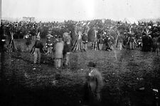 New 5x7 Civil War Photo: Stacked Arms and Soldiers at Gettysburg Address