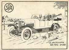 Y2712 Automobili SPA 23 tipo Sport - Pubblicità del 1922 - Old advertising