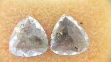3.87CT Natural Loose Gray red color Pear Shape Beautiful Diamond Pair for Earing