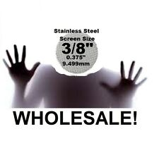 """100+ Count (.375"""")(3/8"""") PipescreenZ™  STAINLESS STEEL PIPE SCREENS Made in USA!"""