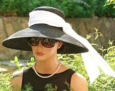 Audrey Hepburn Hat Breakfast at Tiffanys Hat wedding hat formal black Ascot hat