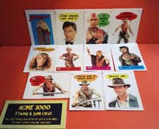 Topps 1984 - Indiana Jones Temple Of Doom 11 Sticker Set