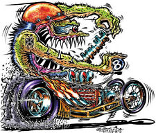 Crank Rod STICKER Decal Hot Rod Fink Art Von Franco VF43 Roth Like