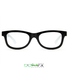 GloFX Standard Diffraction Glasses Black for EDM Scene DJ Rave Club Dope Trendy
