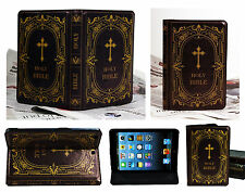 For New iPad Mini 1 2 3 Original Classic Design Bible Book Vintage Case Cover