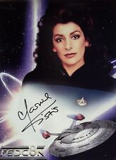 "Star Trek Next Gen Autograph 8x10 Photo Marina Sirtis ""Deanna Troi"" (LHAU-838)"