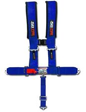 Blue Safety Harness Seat Belt 5 Point Style Sports Car Street Racing Baja 1000