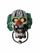 Bonkers the Clown Door Knocker Halloween Animated Decoration Prop Animatronic