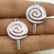 15840*10PCS Enamel Lovely Lollipop Candy Charms Children Like Lollipop Pendant