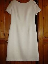 Peter Martin  sandy coloured  polyester  smart work  shift dress. Size 12