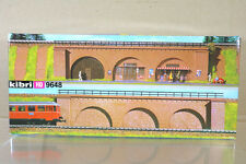 KIBRI 9648 HO SCALE RETAINING WALL BRICK ARCHES BRIDGE MODEL KIT ni