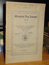 Memorial Day Annual 1912: Causes & Outbreak Of War Between The States 1861-65