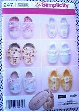2471 SEWING PATTERN~UNCUT~BABY/INFANT BOYS&GIRLS SOFT SHOES/BOOTIES
