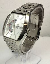 Orient Men Automatic Watch with analog AM PM indicator with date. Made in Japan.