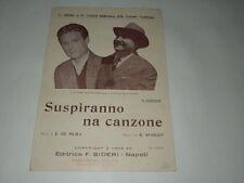 SPARTITO MUSICALE-SUSPIRANNO NA CANZONE GIACOMO RONDINELLA AURE.FIERRO