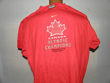 Team Canada Women's Olympic Champions Vancouver 2010 T-Shirt Size L (NWOT)