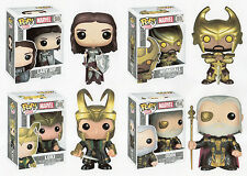 "Funko MARVEL LOKI WITH HELMET - HEIMDALL - LADY SIF & ODIN 3.75"" POP FIGURE SET"