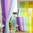 SHEER/ SCARF VALANCE DRAPES Voile Window Panel curtains