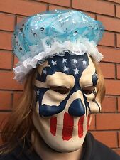 The Purge 3 Mask Halloween Election Year American Flag Stars & Stripes Wig & Cap