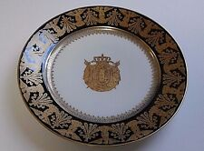 NAPOLEON BONAPARTE CORONATION PLATE USED BY IMPERIAL FAMILY FONTAINEBLEAU C 1804