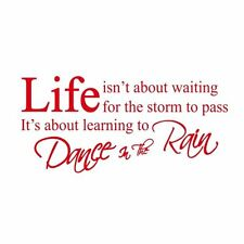 Red LIFE Quote Letter Words Room Art Mural Wall Sticker Decal New