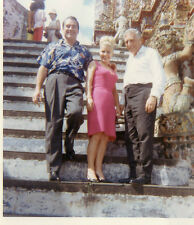 3 American Tourists In A Hindu Temple Photo 1966