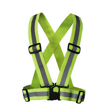 Hi Viz High Visibility Reflective Safety Security Vests Coat Gear Strap Jacket