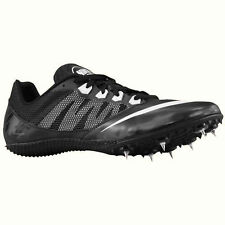 NIKE ZOOM RIVAL S 7 TRACK SPIKES/CLEATS (BLACK/WHITE) - 616313-001 - NEW SIZE 12