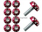 6mm Red Screws Racing For Motorcycle Windscreen Fairing Bodywork Decoration