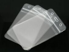 1 x Clear Vertical/Portrait ID Badge Plastic Pocket Holder Pouchs 109 x 69mm